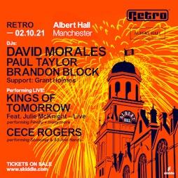 Retro - Albert Hall Tickets   Albert Hall Manchester    Sat 2nd October 2021 Lineup