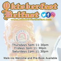 Oktoberfest Belfast   Custom House Square Belfast    Thu 30th September 2021 Lineup