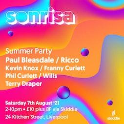 Sonrisa  Tickets | 24 Kitchen Street Liverpool  | Sat 7th August 2021 Lineup