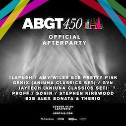 ABGT450 Official Afterparty Tickets | Lafayette London London  | Sat 4th September 2021 Lineup