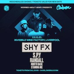 Venue: WAH & Chibuku presents - SHY FX / SPY / Randall  | Invisible Wind Factory Liverpool  | Sat 13th November 2021