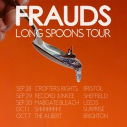 Frauds live in Sheffield Tickets   Record Junkee Sheffield    Wed 29th September 2021 Lineup
