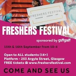Freshers Festival 2021 | Platform Glasgow  | Wed 15th September 2021 Lineup