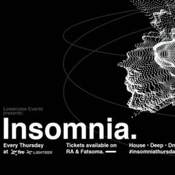 Insomnia Tickets   Fire And Lightbox London    Thu 14th October 2021 Lineup