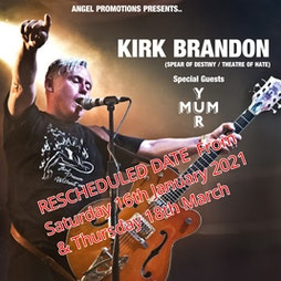 Kirk Brandon | THE VICTORIA BIKERS PUB COALVILLE  | Thu 18th March 2021 Lineup