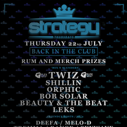 Strategy Tickets   The Volks Nightclub Brighton    Thu 22nd July 2021 Lineup