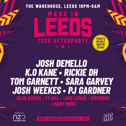 Made in Leeds After Party Tickets - The Warehouse | Skiddle