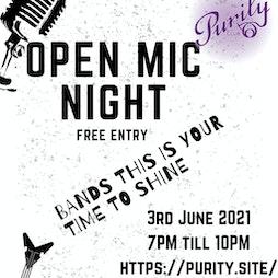 Open Mic Night Tickets | Purity Club Wolverhampton  | Thu 3rd June 2021 Lineup