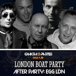 Chakra London Boat Party (RadioRuar) Tickets | Westminster Pier Victoria Embankment London SW1A 2JH London   | Sat 4th September 2021 Lineup