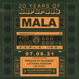 Mala [Deep Medi] *Sold Out* Tickets | Hare And Hounds Birmingham  | Sat 7th August 2021 Lineup