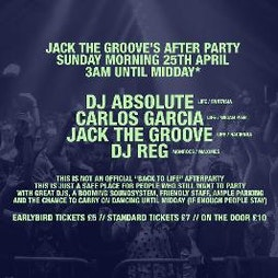 Jack The Groove's Afterparty Tickets | Manto Bar Manchester  | Sun 25th April 2021 Lineup