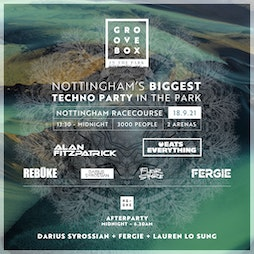 Groovebox 'In the park' Tickets   Nottingham Racecourse Nottingham    Sat 18th September 2021 Lineup