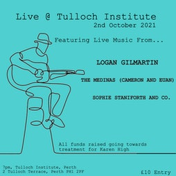 Live @ Tulloch Institute Tickets   The Tulloch Institute Perth    Sat 2nd October 2021 Lineup
