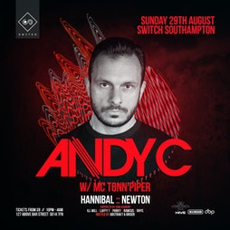ON A MISSION & Hive Present - ANDY C  Tickets | Switch Southampton  | Sun 29th August 2021 Lineup