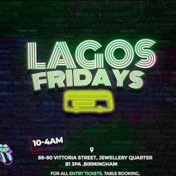Lagos Fridays Tickets | Pavo Birmingham Birmingham   | Fri 15th October 2021 Lineup