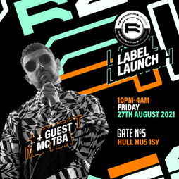Resonating Audios label launch Tickets   Gate No5 Hull    Fri 27th August 2021 Lineup