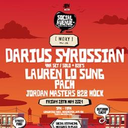 Social Avenue presents Moxy Muzik w/ Darius Syrossian Tickets | Social Avenue Trafford Park  | Fri 28th May 2021 Lineup