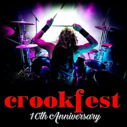 CROOKFEST 2022 10TH ANNIVERSARY Tickets | Crook Town FC Crook ,DURHAM  | Sun 1st May 2022 Lineup