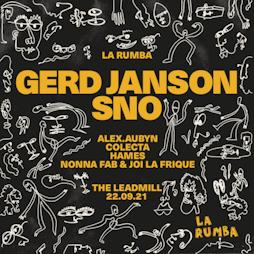 La Rumba: Gerd Janson, SNO Tickets | The Leadmill Sheffield  | Wed 22nd September 2021 Lineup