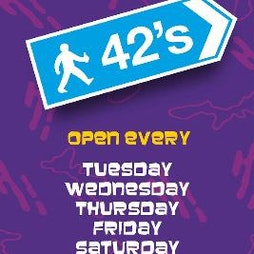 42s Reopening Party | 42nd Street Nightclub Manchester  | Thu 27th May 2021 Lineup