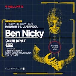 Hellfire presents Ben Nicky  Tickets   Hangar 34 Liverpool    Fri 30th July 2021 Lineup