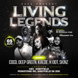 Living Legends | The OEC Sheffield  | Thu 5th August 2021 Lineup