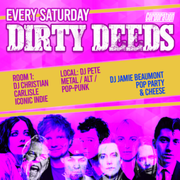 Dirty Deeds Tickets   Corporation Sheffield    Sat 16th October 2021 Lineup