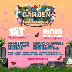 The Garden Project 1st Birthday Bash  Tickets | The Green Room Maidstone  | Sat 3rd July 2021 Lineup