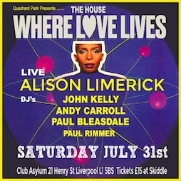 The House Where Love Lives Tickets | Asylum Liverpool Liverpool  | Sat 27th November 2021 Lineup