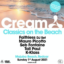 Cream Classics On The Beach Tickets | Majuba Beach Redcar  | Sun 1st August 2021 Lineup