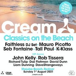Cream Classics On The Beach Tickets | Majuba Beach Redcar  | Sun 1st August 2021 Lineup