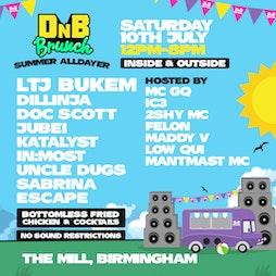 DnB Brunch - Birmingham - Summer Alldayer Tickets   The Mill, Digbeth Birmingham    Sat 10th July 2021 Lineup