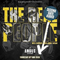 The Real People at The Angus (SECOND REARRANGED DATE) Tickets   The Angus Tap And Grind Liverpool    Wed 2nd June 2021 Lineup
