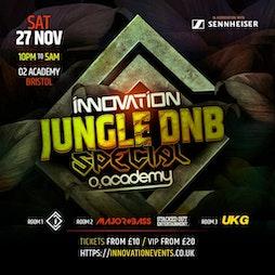 Innovation Jungle DnB Special Tickets   O2 Academy Bristol Bristol    Sat 27th November 2021 Lineup