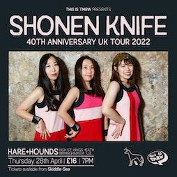 Venue: Shonen Knife 40th anniversary tour | Hare And Hounds Birmingham  | Thu 28th April 2022