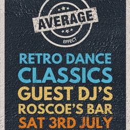 Venue: Average Effect   Roscoe's Bar Scarborough    Sat 3rd July 2021