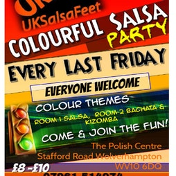 Colourful Salsa Party | The Polish Club Wolverhampton  | Fri 31st December 2021 NYE Lineup
