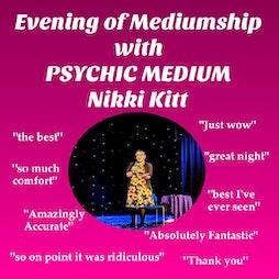 Evening of Mediumship with Nikki Kitt - Nr Truro Tickets   Chacewater Village Hall Chacewater    Fri 4th June 2021 Lineup