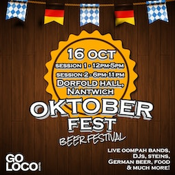 Oktoberfest Cheshire 2021 Tickets   Dorfold Hall Chester Road Acton Nantwich CW5 8LD Nantwich    Sat 16th October 2021 Lineup