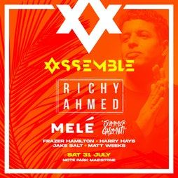 Venue: Assemble Presents: Richie Ahmed, Mele and more! | Mote Park Maidstone, Kent  | Sat 31st July 2021