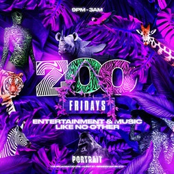Zoo Fridays Tickets   Portrait Bar  Birmingham    Fri 17th September 2021 Lineup