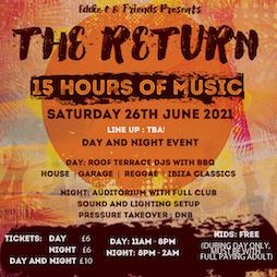 Eddie C & Friends Presents - The Return Tickets   Ventnor Winter Gardens Isle Of Wight Ventnor    Sat 26th June 2021 Lineup
