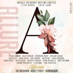 Allure #6 Tickets   Levana Bar Birmingham    Sat 15th May 2021 Lineup
