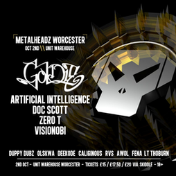 Metalheadz Worcester Tickets   Unit Warehouse Worcester  Worcester    Sat 2nd October 2021 Lineup