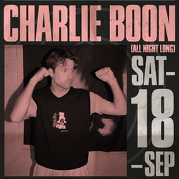 Depo disco presents: Charlie Boon [ALL NIGHT LONG] Tickets | THE DEPO Plymouth  | Sat 18th September 2021 Lineup