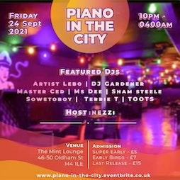 PIANO IN THE CITY Tickets | Mint Lounge Manchester  | Fri 24th September 2021 Lineup