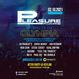Pleasure Rooms Returns To The Olympia  Tickets | Eventim Olympia Liverpool  | Sat 2nd October 2021 Lineup
