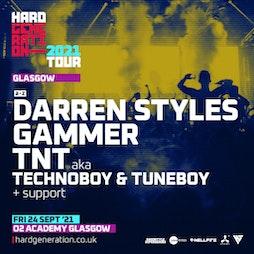 Hard Generation 2021 Tour Presents Darren Styles Tickets | O2 Academy Glasgow Glasgow  | Fri 24th September 2021 Lineup