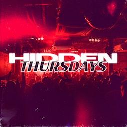 Hidden Thursdays | 23rd September  Tickets | Hidden Manchester  | Thu 23rd September 2021 Lineup